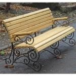 Кованая садовая скамейка — Артикул №002